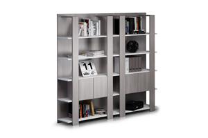 Librerie a giorno con ante e cassetti Artexport