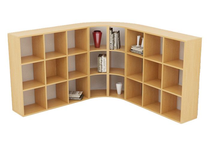 Libreria ad angolo maxicolor artexport for Libreria ad angolo