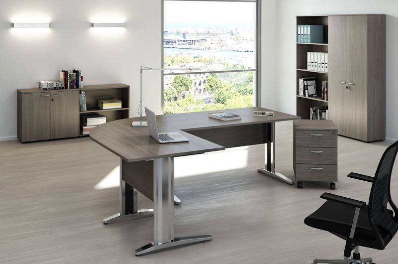 Scrivania Ad Angolo Design : Scrivania angolare angle ufficio camera ripiani design symbiosis